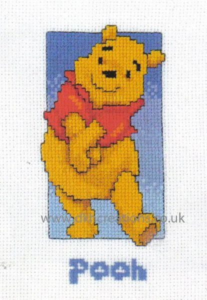 Disney Winnie The Pooh With Name Cross Stitch Kit